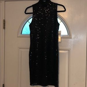 Kensie Dresses - Kenzie Black Sequin Cocktail Dress